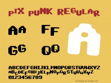 pix punk Regular Version 1.00 March 13, 2017, initial release图片样张