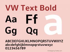 VW Text Bold Version 1.102图片样张