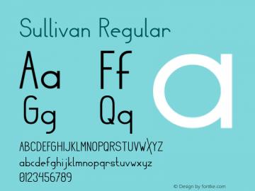 Sullivan Regular Version 1 Font Sample