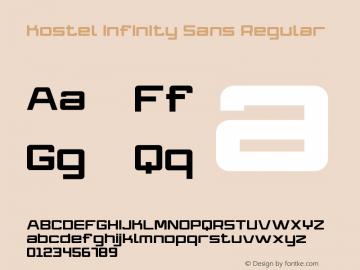 Kostel Infinity Sans Regular Version 1.012 July 8, 2012图片样张