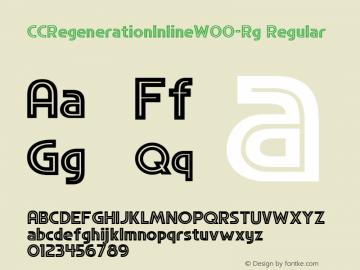 CCRegenerationInlineW00-Rg Regular Version 1.00图片样张