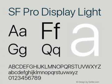 SF Pro Display Light Version 01.0d1e2图片样张