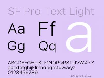 SF Pro Text Light Version 01.0d1e2图片样张