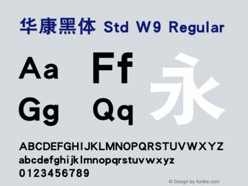 华康黑体 Std W9 Regular Version 1.301(ForTestOnly)图片样张