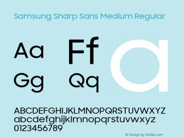 Samsung Sharp Sans Medium Font Family Samsung Sharp Sans Medium-Sans