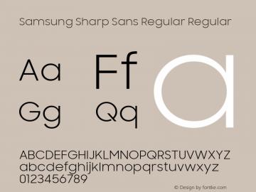 Samsung Sharp Sans Regular Font,SamsungSharpSans-Regular