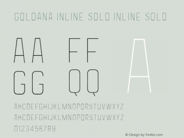 Goldana Inline Solo Inline Solo Version 001.000 Font Sample