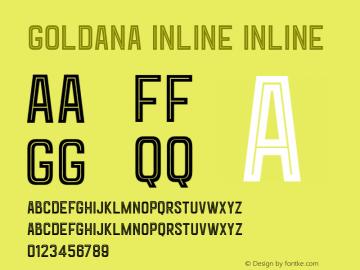 Goldana Inline Inline Version 001.000图片样张