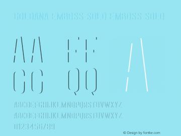 Goldana Emboss Solo Emboss Solo Unknown Font Sample