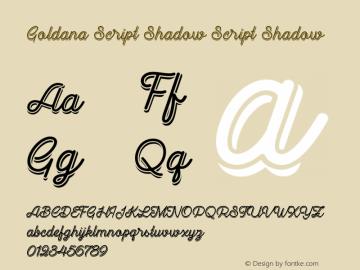 Goldana Script Shadow Script Shadow 001.000图片样张