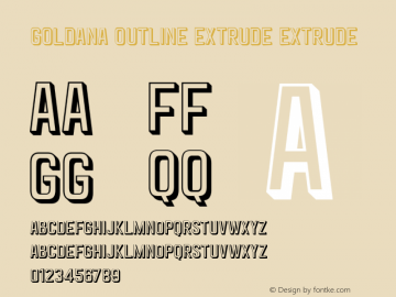 Goldana Outline Extrude Extrude Unknown图片样张