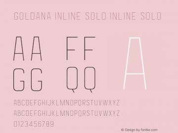 Goldana Inline Solo Inline Solo 001.000 Font Sample