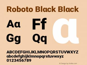 Roboto Black Black Version 1.00 April 14, 2017, initial release图片样张