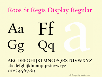 Roos St Regis Display Font Roos St Regis Display Regular Font Roosstregisdisplay Regular Font Roos St Regis Display Regular Version 2 00 Font Ttf Font Uncategorized Font Fontke Com For Mobile
