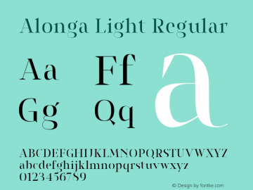 Alonga Light Regular Version 1.000 Font Sample
