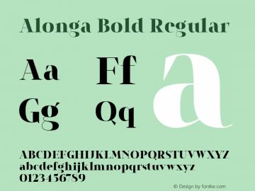 Alonga Bold Regular Version 1.000图片样张