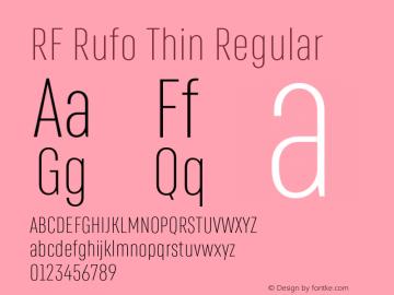 RF Rufo Thin Regular Version 1.000;PS 002.000;hotconv 1.0.88;makeotf.lib2.5.64775图片样张