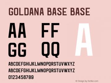 Goldana Base Base Unknown Font Sample
