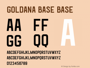 Goldana Base Base 001.001 Font Sample