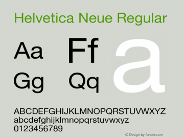 Helvetica Neue Regular Version 1.300;PS 001.003;hotconv 1.0.38 Font Sample