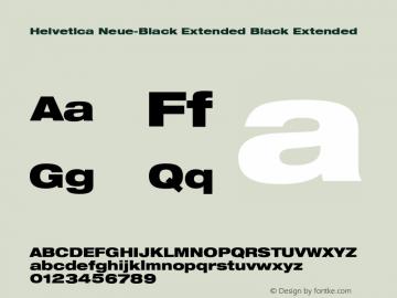 Helvetica Neue-Black Extended Black Extended Version 1.300;PS 001.003;hotconv 1.0.38 Font Sample