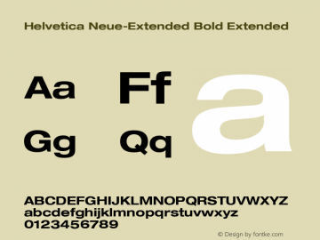 Helvetica Neue-Extended Font,Helvetica Neue-Bold Extended