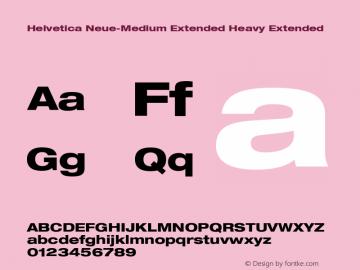 Helvetica Neue-Medium Extended Heavy Extended Version 1.300;PS 001.003;hotconv 1.0.38 Font Sample