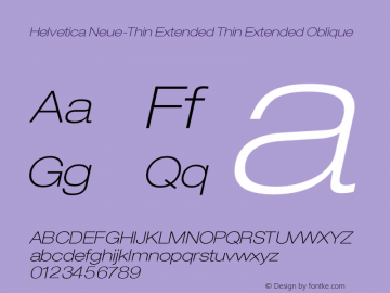 Helvetica Neue-Thin Extended Font,Helvetica Neue-Thin