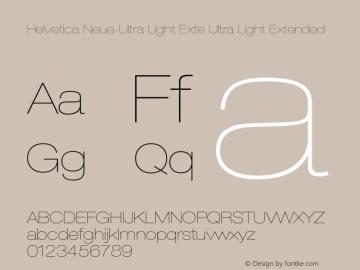 Helvetica Neue-Ultra Light Exte Ultra Light Extended Version 1.300;PS 001.003;hotconv 1.0.38 Font Sample
