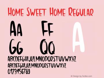 Home Sweet Home Regular Version 1.0 图片样张