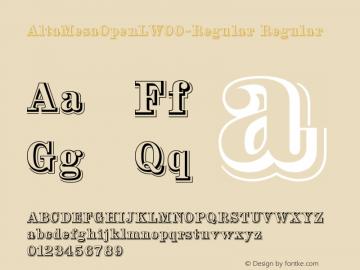 AltaMesaOpenLW00-Regular Regular Version 1.00 Font Sample