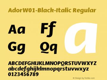 AdorW01-Black-Italic Regular Version 1.10图片样张