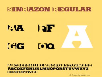SinRazon Regular Version 1.400 Font Sample