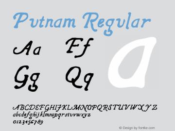 Putnam Regular Version 1.000;PS 001.000;hotconv 1.0.88;makeotf.lib2.5.64775 Font Sample