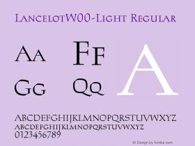 LancelotW00-Light Regular Version 2.00图片样张