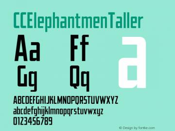 CCElephantmenTaller ☞ Version 1.001 2010;com.myfonts.comicraft.elephantmen-greater-and-taller.taller.wfkit2.3wg1 Font Sample