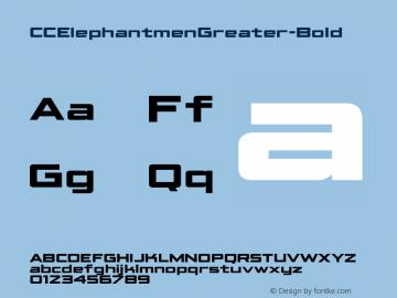 CCElephantmenGreater-Bold ☞ Version 1.001 2010;com.myfonts.comicraft.elephantmen-greater-and-taller.greater-bold.wfkit2.3wg4 Font Sample