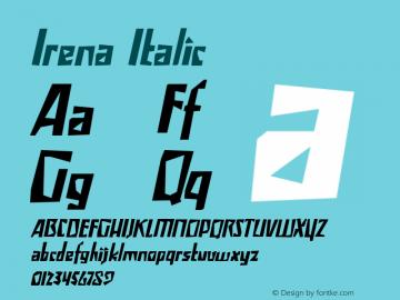 Irena Italic Version 1.000图片样张