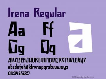 Irena Regular Version 1.000图片样张