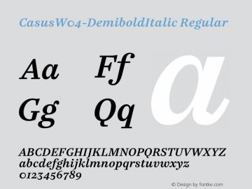 CasusW04-DemiboldItalic Regular Version 7.504图片样张