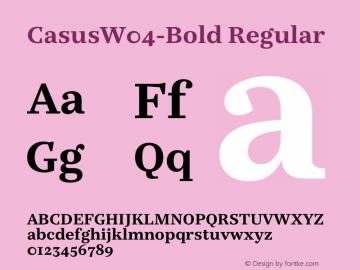 CasusW04-Bold Regular Version 7.504 Font Sample