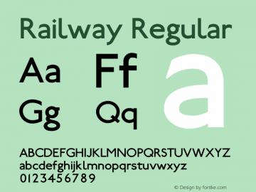 Railway Regular 1.000 Font Sample