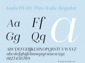IsabelW00-Thin-Italic Regular Version 1.00图片样张