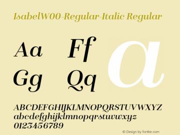 IsabelW00-Regular-Italic Regular Version 1.00图片样张