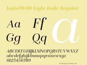 IsabelW00-Light-Italic Regular Version 1.00 Font Sample
