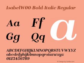 IsabelW00-Bold-Italic Regular Version 1.00图片样张