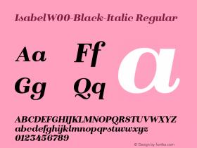IsabelW00-Black-Italic Regular Version 1.00 Font Sample