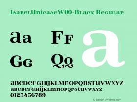 IsabelUnicaseW00-Black Regular Version 1.00 Font Sample