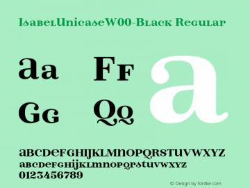IsabelUnicaseW00-Black Regular Version 1.00图片样张