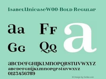 IsabelUnicaseW00-Bold Regular Version 1.00 Font Sample